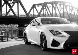 lexus white tweaked lexus rc f in matte white and vossen vps 311 wheels