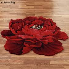 4 Foot Round Area Rugs by Flower Shaped Rugs Touch Of Class