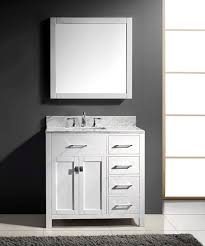 Virtu USA MSRWMSQWH Inch Caroline Parkway Single Square - Virtu usa caroline 36 inch single sink bathroom vanity set