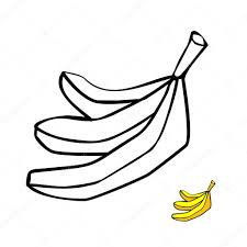 banana coloring book with fruit page for kids fruits pages