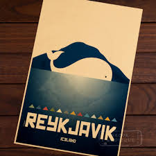 compare prices on cityscape wall stickers online shopping buy low iceland cityscape reykjavik skyline whale anime art vintage retro decorative frame poster diy wall home