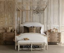 eloquence beds dauphine canopy weathered white