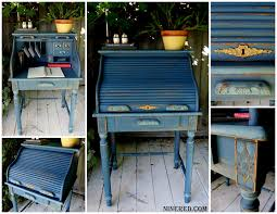 Desk Refinishing Ideas Nine Red Of Restoration Diy Chalk Paint
