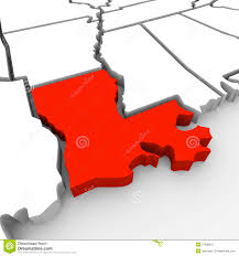 United States Map Clip Art by Louisiana Red Abstract 3d State Map United States America Stock