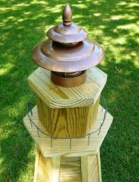diy lighthouse plans how to build a 4 ft wooden lawn lighthouse