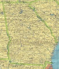 Map Of Georgia With Cities Georgia Mji Ramani Ramani Miji Ya Georgia Marekani
