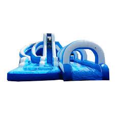 bouncer helix dual lane water slide bounce house castle castle