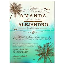 palm tree wedding invitations palm tree rsvp card green for or destination weddings