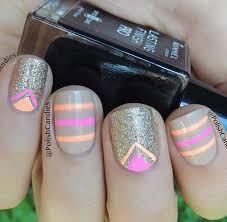 light brown nail polish 45 chevron nail art ideas brown nail polish gold glitter nails