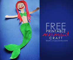 printable mermaid craft