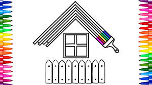how to draw a rainbow house coloring pages colorful house