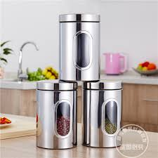 stainless steel canister sets kitchen get cheap stainless steel canister sets kitchen aliexpress