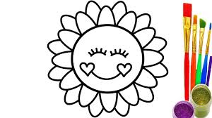 learn colors with rainbow sun coloring pages how to draw for baby