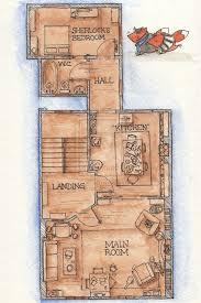 floor plan for 221b baker street via the bbc tv series sherlock