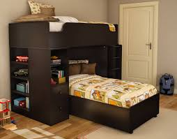 Wooden Bunk Bed With Futon Bedding Wooden L Shaped Bunk Beds Perfect Design Home Decorations