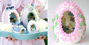 sugar easter eggs delightful easter egg panoramas made out of sugar flowers and