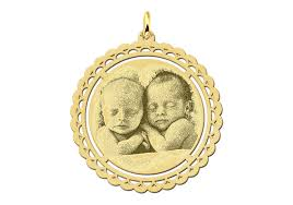 Engraved Pendant Photo Pendant Necklace Available In Silver And Gold