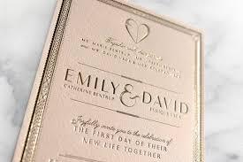 gold foil wedding invitations emily david the vaca wedding la vaca