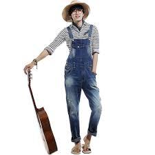 Comfortable Suspenders Best Men U0027s Fashion Hole Suspenders Jeans Paint Denim Bib Pants