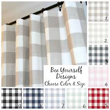 Black And White Buffalo Check Curtains Buffalo Check Curtains Pair Of Pole Rod Pocket Panels