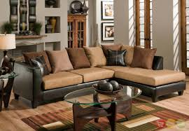 Small Brown Sectional Sofa Furniture Classic Brown Leather Sectional With Chaise