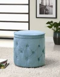 round fabric storage ottoman foter