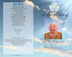 funeral programs free funeral program templates dove gold cross