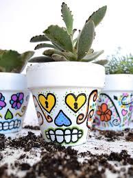 diy sugar skull flower pots a bigger