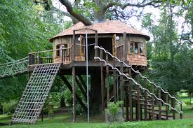 Best Treehouse Too Good For The Kids Tree House Blue Forest