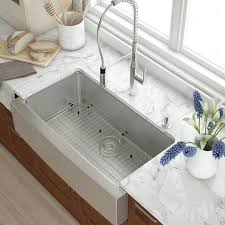 kraus 36 x 21 farmhouse kitchen sink with drain assembly cais
