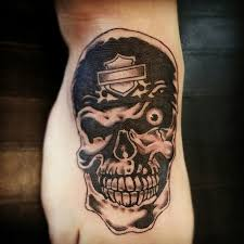 harley davidson helmet skull tattoo design in 2017 real photo