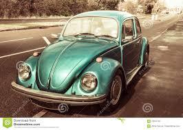 blue volkswagen beetle vintage blue classic car volkswagen beetle stock illustration image