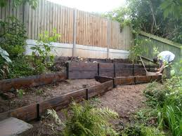 raised vegetable garden beds on a slope home outdoor decoration