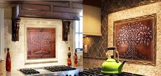 copper tiles for kitchen backsplash kitchen backsplash made of copper my copper craft