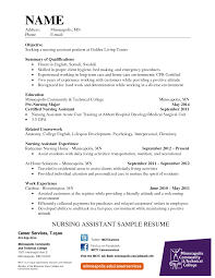 Cna Description For Resume Cover Letter Certified Nursing Assistant Objective For Resume