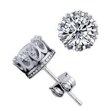 cool stud earrings aliexpress buy sale 8mm cz 925 sterling silver
