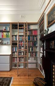 Ladder Bookshelf Bookcase Ideas Family Room Craftsman With Library - Family room bookcases