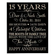 15 year anniversary gift for him personalized 15 year anniversary gift for