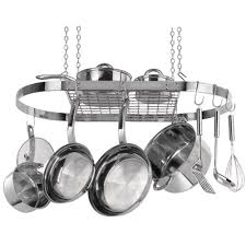 lighted hanging pot racks kitchen organizer home depot pot rack pots and pans organizer