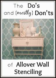 like mother like daughter allover wall stenciling allover wall stenciling