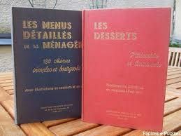 livres de cuisine anciens de cuisine anciens
