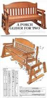 Outdoor Wooden Chair Plans Glider Bench Plans Outdoor Furniture Plans U0026 Projects