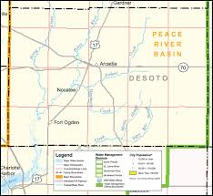 Map Of Southwest Fl Southwest Florida Water Management District Desoto County