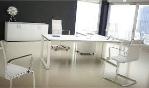 bureau verre blanc bureau en verre blanc bureau de direction plan droit retour