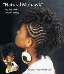 mwahahwk hairstule done using kinky natural mohawk hairstyle frohawk mohawk styles pinterest