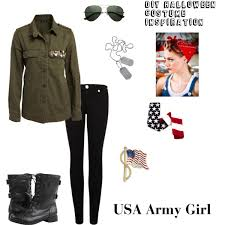 Halloween Army Costumes Womens Diy Halloween Costume Inspiration Usa Army Polyvore