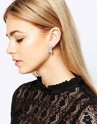 lipsy grande pretty multipack earrings in metallic lyst