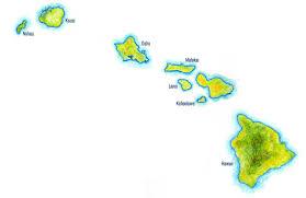 Map Of Hawaii Island Hawaiian Islands Map Handpainted Hawaii Map