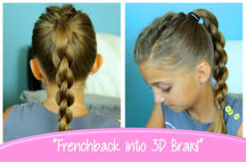 Simple Girls Hairstyles by Single Frenchback Into Round Braid Back To Hairstyles