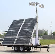 Solar Power Traffic Lights by Solar Light Tower 57 6 Kwh